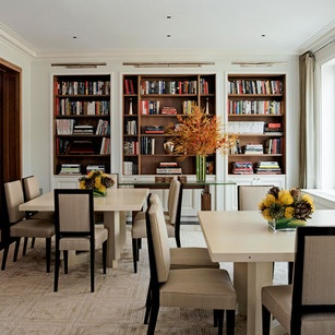 Library Into The Dining Room Design By David Kleinberg