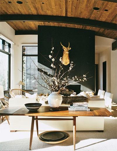 Ski lodge design amy hirschamy hirsch for Hotel meuble suisse genova